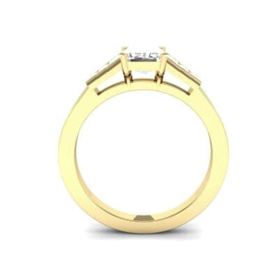 Stepped Baguette Diamond Engagement Ring (1.18 CTW) Side View
