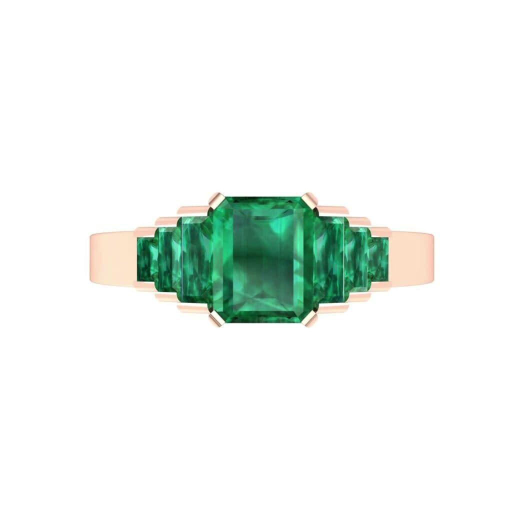 4762 Render 1 01 Camera4 Stone 1 Emerald 0 Floor 0 Metal 2 Rose Gold 0 Emitter Aqua Light 0