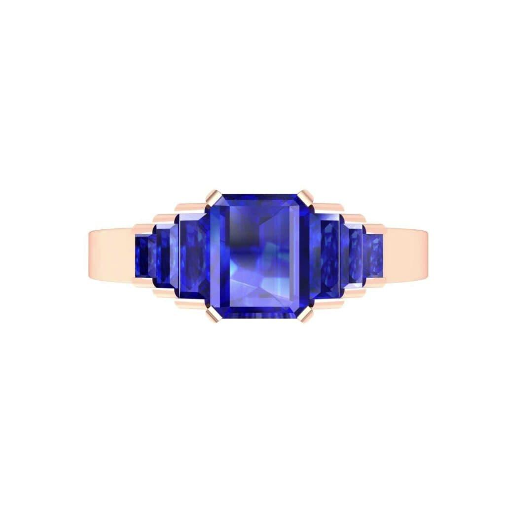 4762 Render 1 01 Camera4 Stone 3 Blue Sapphire 0 Floor 0 Metal 2 Rose Gold 0 Emitter Aqua Light 0