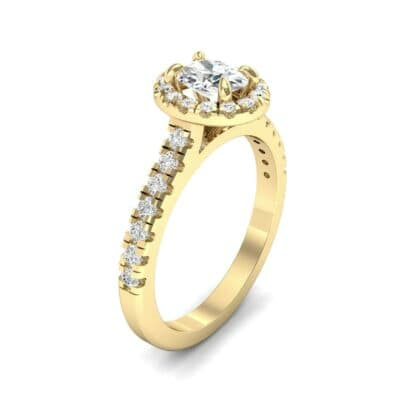 Oval Halo Diamond Engagement Ring (0.76 CTW)