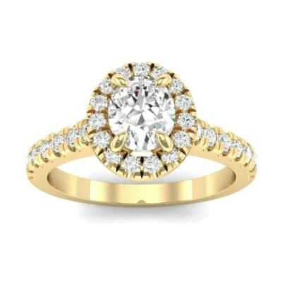 Oval Halo Diamond Engagement Ring (0.76 Carat)