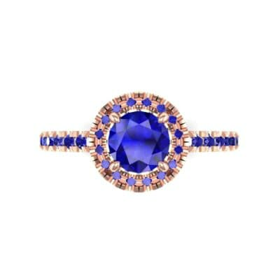 4767 Render 1 01 Camera4 Stone 3 Blue Sapphire 0 Floor 0 Metal 2 Rose Gold 0 Emitter Aqua Light 0