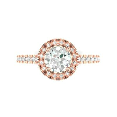 Oval Halo Diamond Engagement Ring (0.76 CTW) Top Flat View