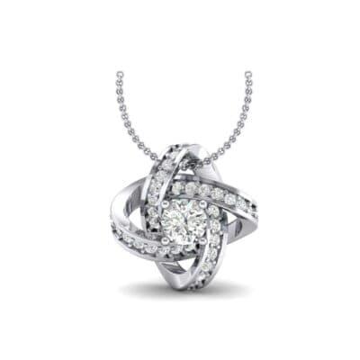 Lotus Oval Cluster Halo Diamond Pendant (1.82 Carat)
