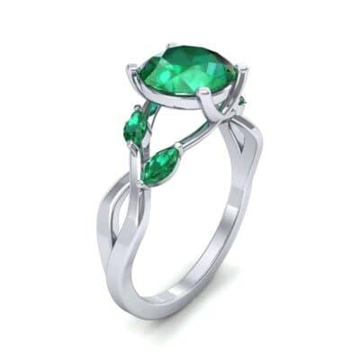 Twisting Vine Emerald Engagement Ring (2.08 CTW)