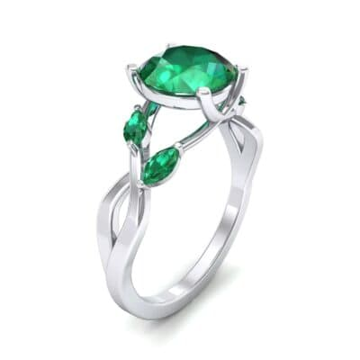 Twisting Vine Emerald Engagement Ring (2.08 CTW)