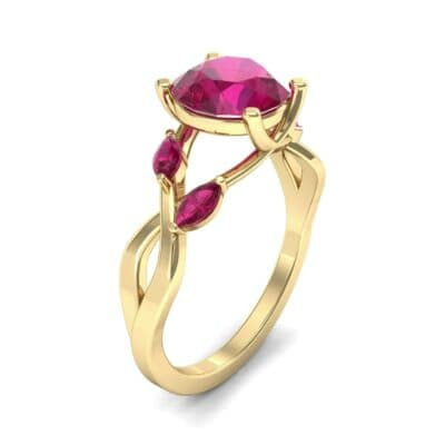 Twisting Vine Ruby Engagement Ring (2.08 Carat)