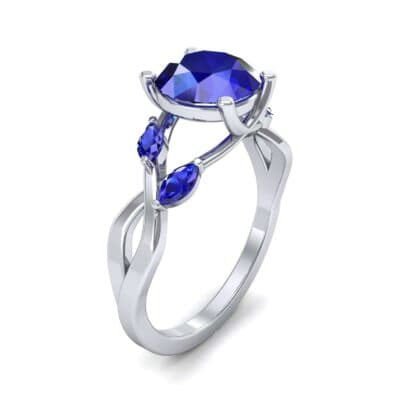 Twisting Vine Blue Sapphire Engagement Ring (2.08 CTW)