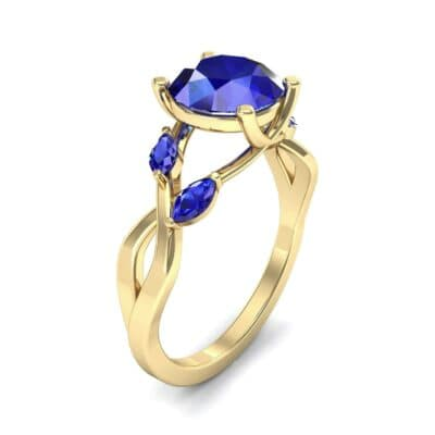Twisting Vine Blue Sapphire Engagement Ring (2.08 CTW)