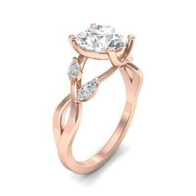 Twisting Vine Diamond Engagement Ring (2.08 Carat)