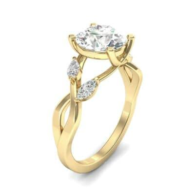 Twisting Vine Diamond Engagement Ring (2.08 CTW)