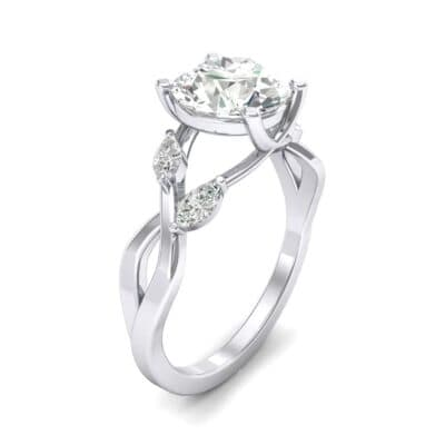 Twisting Vine Crystal Engagement Ring (2.04 CTW)