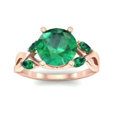 Twisting Vine Emerald Engagement Ring (2.08 Carat)