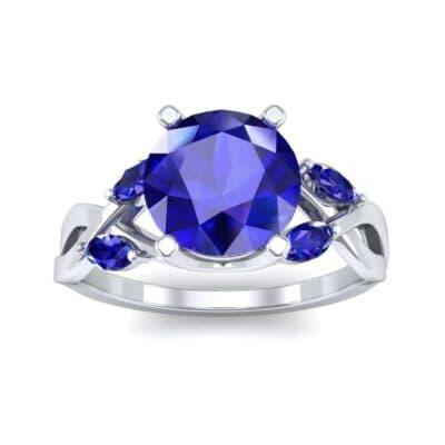 4932 Render 1 01 Camera2 Stone 3 Blue Sapphire 0 Floor 0 Metal 1 Platinum 0 Emitter Aqua Light 0