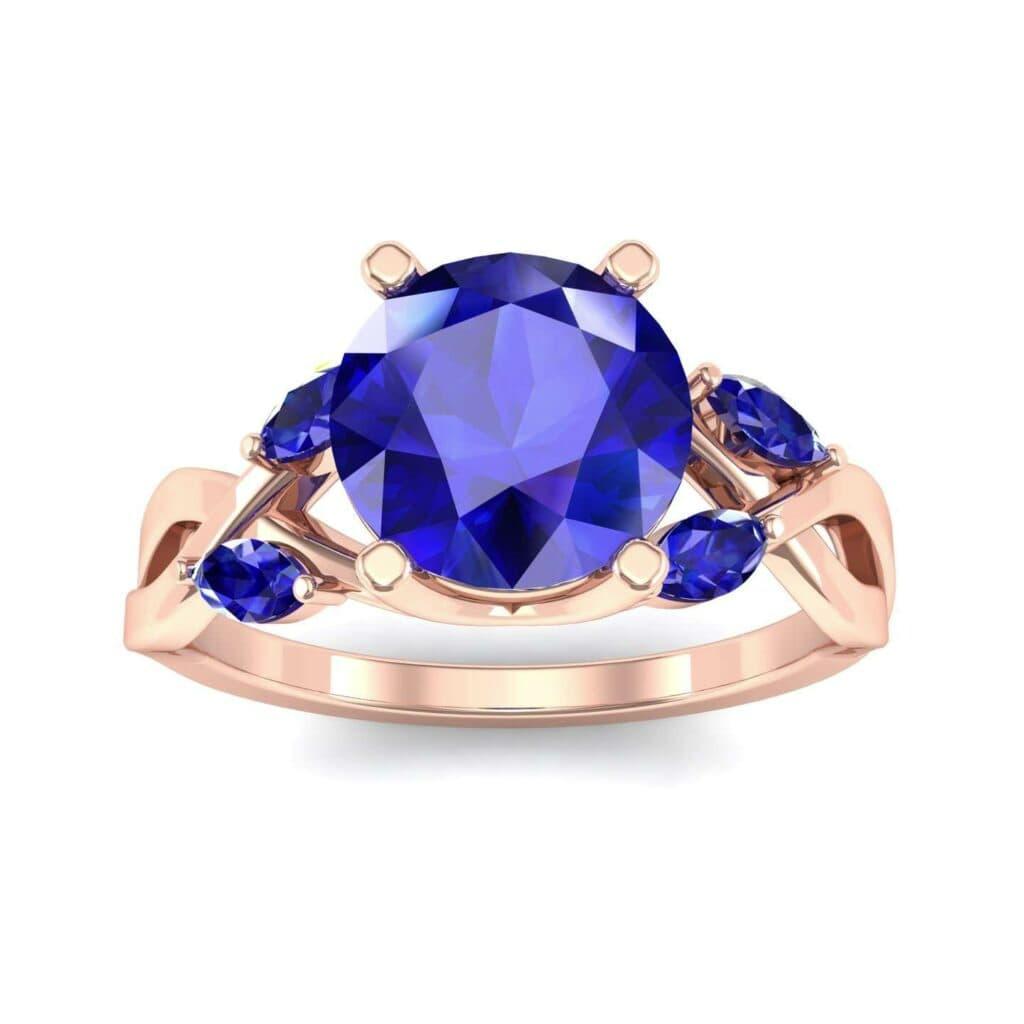 4932 Render 1 01 Camera2 Stone 3 Blue Sapphire 0 Floor 0 Metal 2 Rose Gold 0 Emitter Aqua Light 0