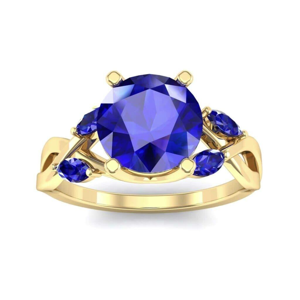 4932 Render 1 01 Camera2 Stone 3 Blue Sapphire 0 Floor 0 Metal 3 Yellow Gold 0 Emitter Aqua Light 0