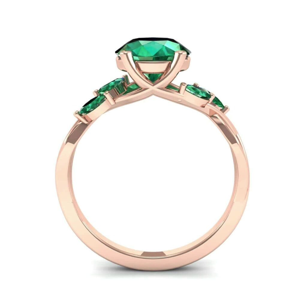 4932 Render 1 01 Camera3 Stone 1 Emerald 0 Floor 0 Metal 2 Rose Gold 0 Emitter Aqua Light 0
