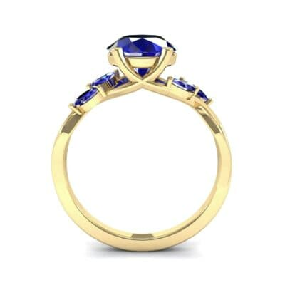 Twisting Vine Blue Sapphire Engagement Ring (2.08 CTW) Side View