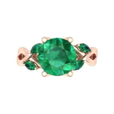 4932 Render 1 01 Camera4 Stone 1 Emerald 0 Floor 0 Metal 2 Rose Gold 0 Emitter Aqua Light 0