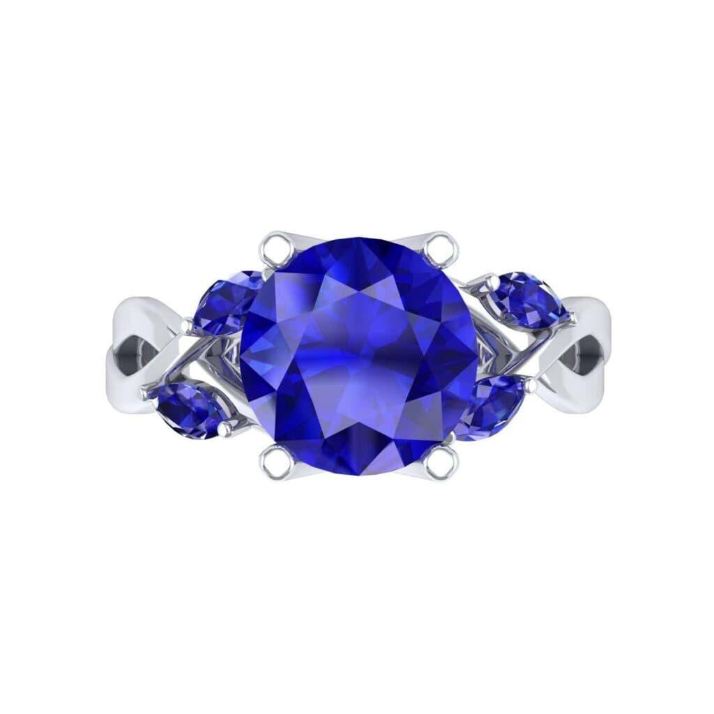 4932 Render 1 01 Camera4 Stone 3 Blue Sapphire 0 Floor 0 Metal 1 Platinum 0 Emitter Aqua Light 0