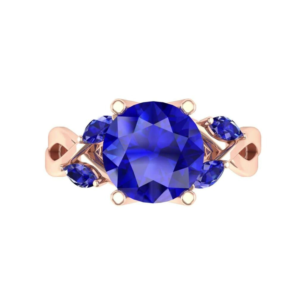4932 Render 1 01 Camera4 Stone 3 Blue Sapphire 0 Floor 0 Metal 2 Rose Gold 0 Emitter Aqua Light 0