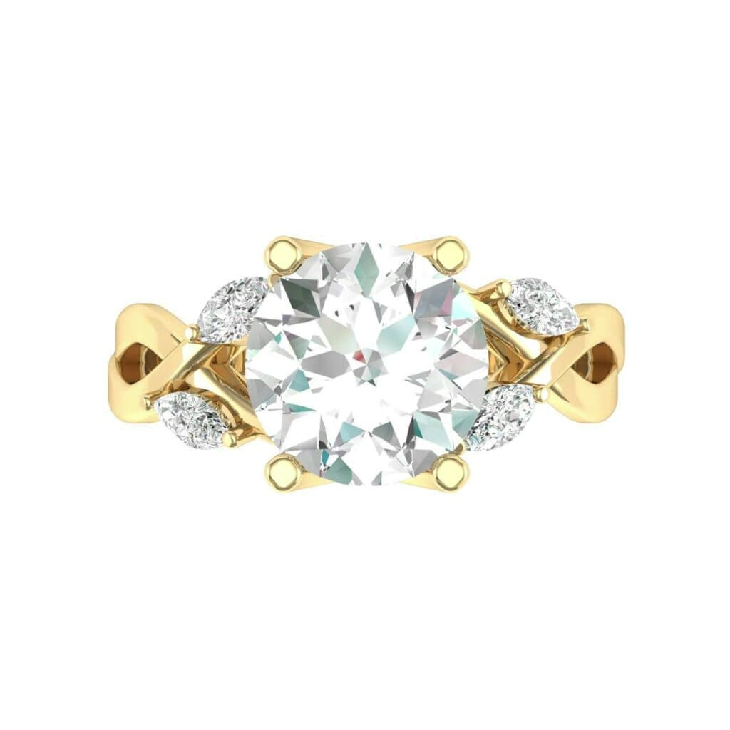 4932 Render 1 01 Camera4 Stone 4 Diamond 0 Floor 0 Metal 3 Yellow Gold 0 Emitter Aqua Light 0