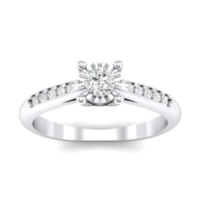 Petite Illusion-Set Crystals Engagement Ring (0.26 Carat)