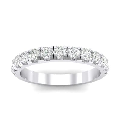 Classic Half Pave Crystals Ring (0.39 Carat)