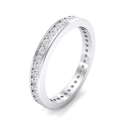 Flat-Sided Pave Crystals Eternity Ring (0.57 Carat)