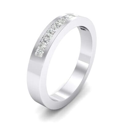 Channel-Set Princess-Cut Crystals Ring (0.6 Carat)