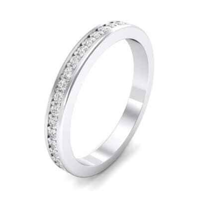 Light Flat-Sided Pave Crystals Eternity Ring (0.42 Carat)
