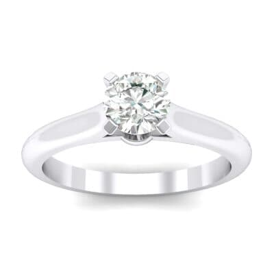 Petite Cathedral Solitaire Crystals Engagement Ring (0.44 Carat)