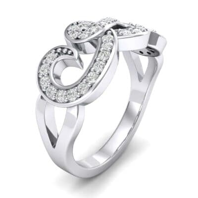 Pave Swirl Diamond Ring (0.29 CTW)