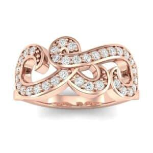 Pave Swirl Diamond Ring (0.29 Carat)