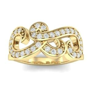 Pave Swirl Diamond Ring (0.29 Carat)