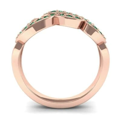 A30527 1 Render 1 01 Camera3 Stone 1 Emerald 0 Floor 0 Metal 2 Rose Gold 0 Emitter Aqua Light 0