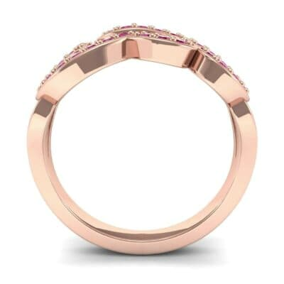 Pave Swirl Ruby Ring (0.38 CTW) Side View