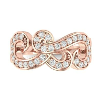Pave Swirl Diamond Ring (0.29 CTW) Top Flat View