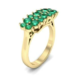 Embrace Emerald Cluster Engagement Ring (1.55 Carat)