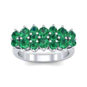 Embrace Emerald Cluster Engagement Ring (1.55 Carat)