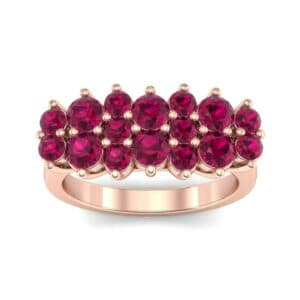 Embrace Ruby Cluster Engagement Ring (1.55 Carat)