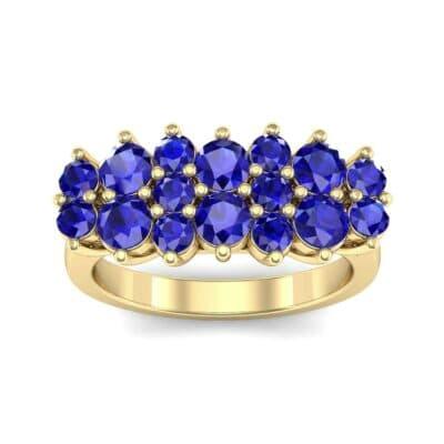 Embrace Blue Sapphire Cluster Engagement Ring (1.55 Carat)