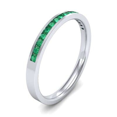 Extra-Thin Channel-Set Emerald Ring (0.17 Carat)