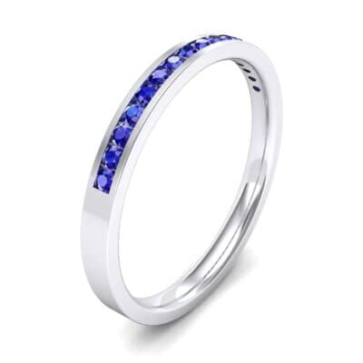 Extra-Thin Channel-Set Blue Sapphire Ring (0.17 Carat)