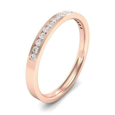 Extra-Thin Channel-Set Diamond Ring (0.13 Carat)