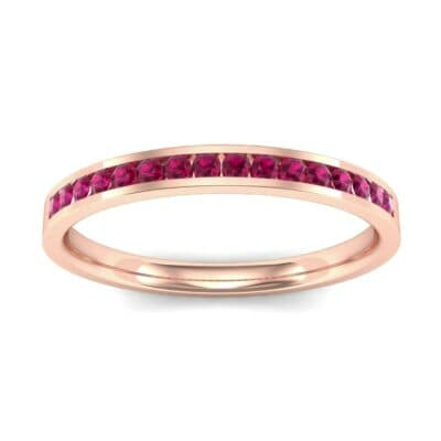 Extra-Thin Channel-Set Ruby Ring (0.17 Carat)