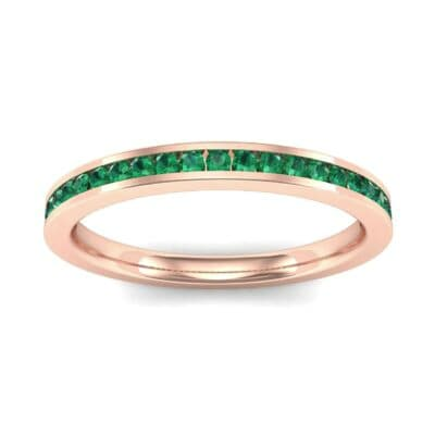 Extra-Thin Channel-Set Emerald Ring (0.26 Carat)