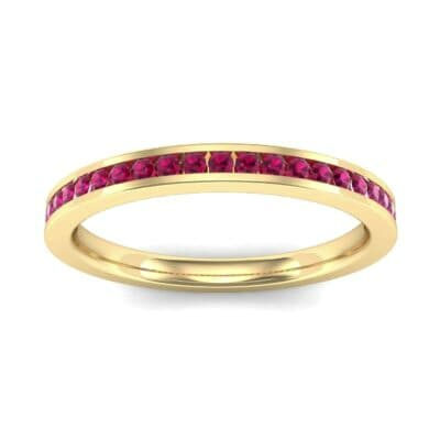 Extra-Thin Channel-Set Ruby Ring (0.26 Carat)