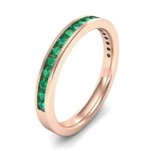 Thin Channel-Set Emerald Ring (0.38 Carat)