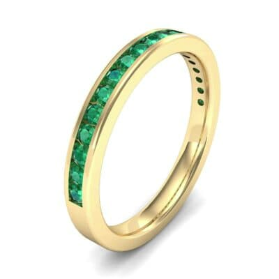 Thin Channel-Set Emerald Ring (0.38 Carat)